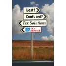 Indoor Sign - Lost? Confused? Tax Solutions (Left)